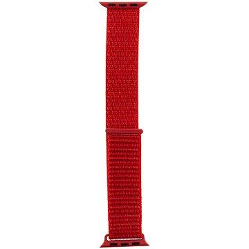 Tactical Látkový řemínek pro Apple Watch 38mm / 40mm Red (8596311097102)
