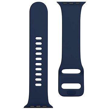 Tactical Silikonový řemínek s přezkou pro Apple Watch 42/44mm Night Blue (8596311138942)