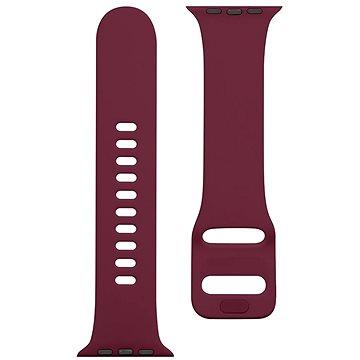 Tactical Silikonový řemínek s přezkou pro Apple Watch 42/44mm Wine Red (8596311138959)