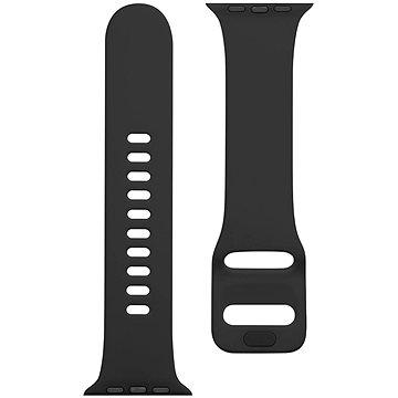 Tactical Silikonový řemínek s přezkou pro Apple Watch 42/44mm Grain Black (8596311138928)