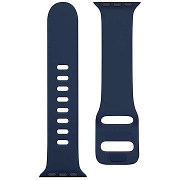 Tactical Silikonový řemínek s přezkou pro Apple Watch 38/40mm Night Blue (8596311138898)