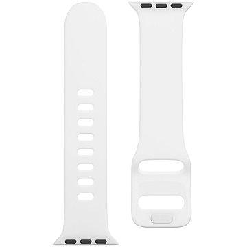 Tactical Silikonový řemínek s přezkou pro Apple Watch 38/40mm White (8596311138881)