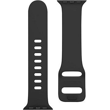 Tactical Silikonový řemínek s přezkou pro Apple Watch 38/40mm Grain Black (8596311138874)