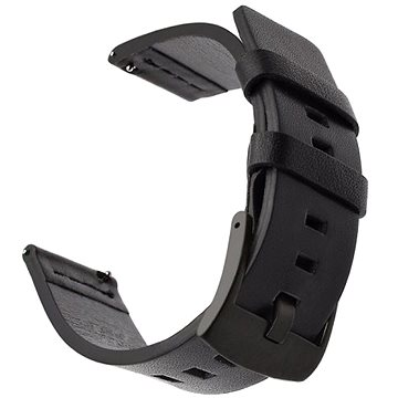 Tactical Kožený řemínek pro Huawei Watch GT / GT2 46mm / Honor Watch Magic 2 Black (8596311084539)