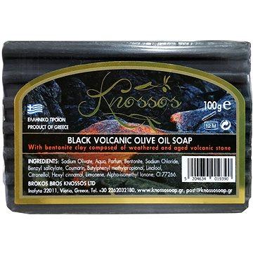 KNOSSOS Řecké černé olivové mýdlo s bentonitovou hlínou 100 g (5204634019390)