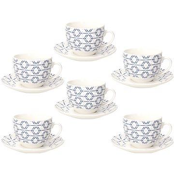 Tognana Sada šálků na čaj s podšálky 270 ml 6 ks METROPOLIS DOWN TOWN (ME085025669)
