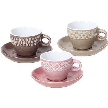 Tognana Sada šálků na kávu s podšálky 6 ks 100 ml LAPIS AGATA (LP18501M079)