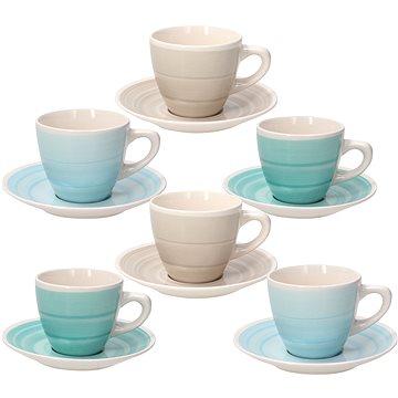 Tognana Sada 6 ks šálků na čaj s podšálky 210 ml LOUISE ALMEIDA (LS18502M095)
