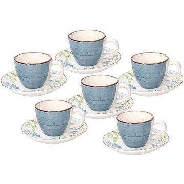 Tognana Sada šálků na kávu s podšálky 6 ks 80 ml METROPOLIS GAIA (ME185015637)