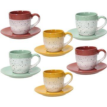 Tognana Sada 6 ks čajových šálků 200 ml s podšálky LAYERS GI-VE-MA (LS18502M120)