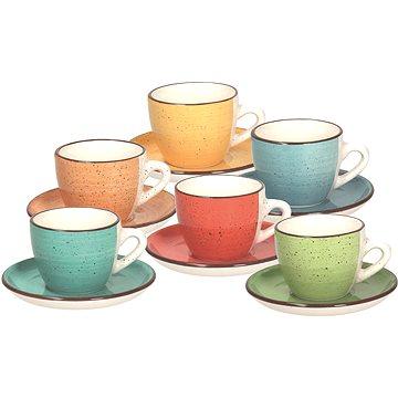 Tognana Sada šálků na kávu s podšálky 6 ks 90ml LOUISE ART&PEPPER (LS18534M043)