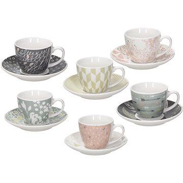 Tognana Sada šálků na kávu s podšálky 6ks 80ml IRIS ALICIA (IR685345565)