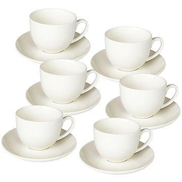 Tognana Sada šálků na kávu s podšálky 6ks 85ml PERLA BIANCO (PE685010000)