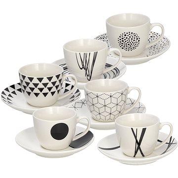Tognana Sada šálků na kávu s podšálky 6 ks 80 ml GRAPHIC (ME685015529)