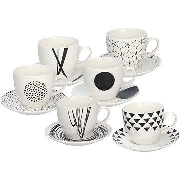 Tognana Sada šálků s podšálky na čaj 200ml GRAPHIC 6ks (ME685025529)