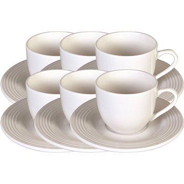 Tognana Sada šálků na kávu s podšálky 6 ks 100ml CIRCLES (PS085012145)