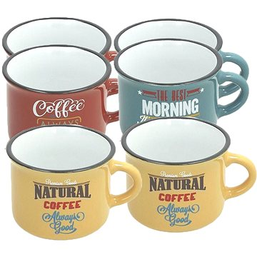 Tognana Sada hrnků na kávu 100ml DES ARTS VINTAGE 6ks (DL11510M035)