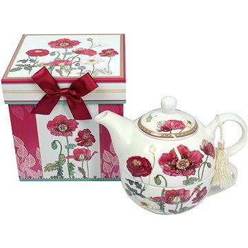 HOME ELEMENTS Porcelánová čajová souprava - Vlčí máky (8595556440957)