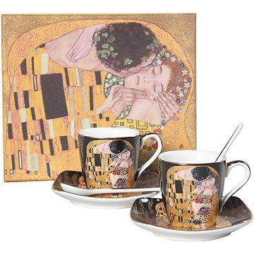 HOME ELEMENTS Espresso set – šálky s podšálky a lžičkami - Klimt (8595556443316)