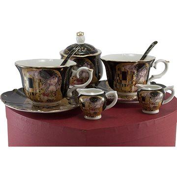 HOME ELEMENTS Porcelánový set - šapo sady, mléčenky a cukřenka - Klimt (8595556443682)