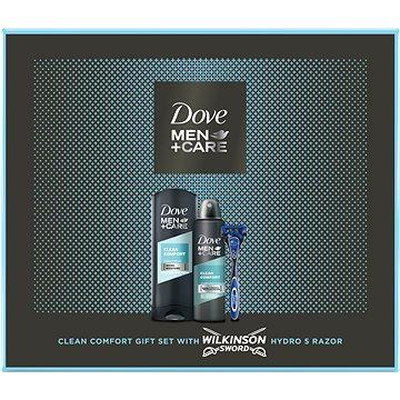 DOVE Men+Care Clean Comfort Box s Wilkinson holícím strojkem (8710847973147)