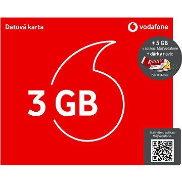 Vodafone datová karta - 3 GB dat + kecka + ponožky