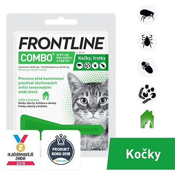 Frontline combo spot - on pro kočky 1× 0,5ml (8594072852053)