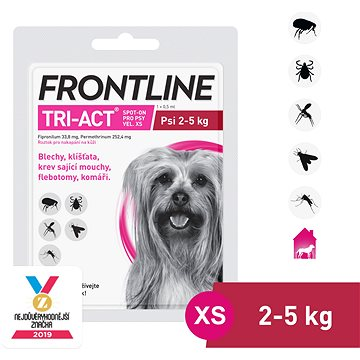 Frontline tri - act Spot - on pro psy XS (2 - 5 kg) (3661103047971)