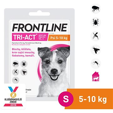 Frontline tri - act Spot - on pro psy S (5 - 10 kg) (3661103047988)