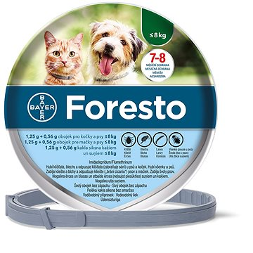 Foresto 1,25 g + 0,56 g obojek pro kočky a psy < 8 kg/38 cm (4007221037873)
