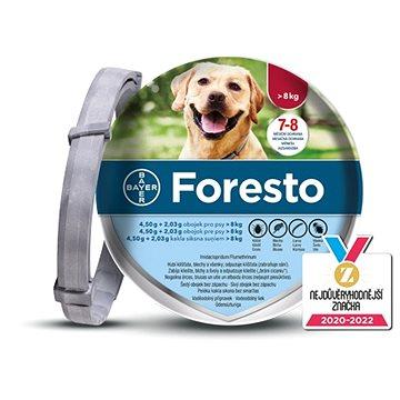 Foresto 4,50 g + 2,03 g obojek pro psy > 8 kg/70 cm (4007221037880)