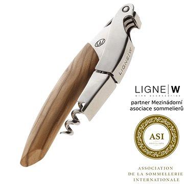LigneW Prestige, dvoufázová vývrtka na víno, olivové dřevo (202)