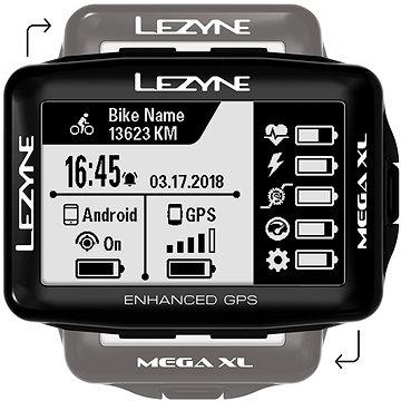 Lezyne Mega XL GPS Black (1-GPS-MEGAXL-V104)