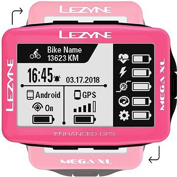 Lezyne Mega XL GPS Pink (1-GPS-MEGAXL-V122)