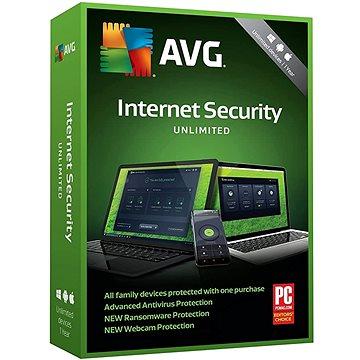 AVG Internet Security Unlimited - pro neomezeně zařízení na 12 měsíců (BOX) (GSREN12BCZA000)