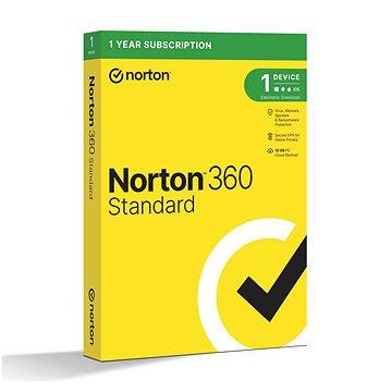 Norton 360 Standard 10GB CZ, 1 uživatel, 1 zařízení, 12 měsíců (elektronická licence) (21405801)