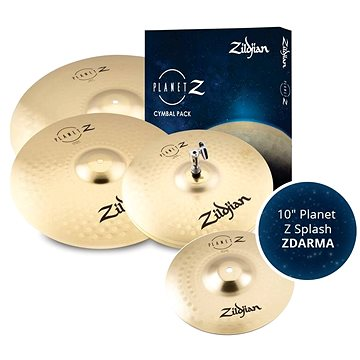 """ZILDJIAN Planet Z 4 Cymbal pack + 10"""" Planet Z Splash (HN212649)"""