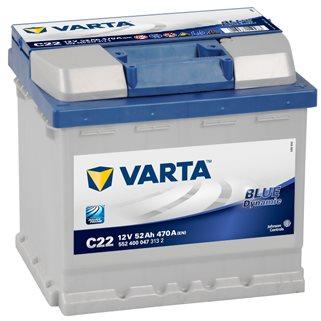VARTA BLUE Dynamic 52Ah, 12V, C22 (C22)