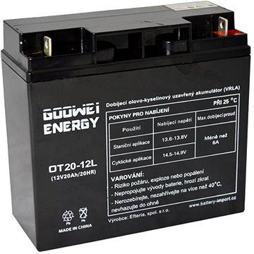 GOOWEI ENERGY OTL20-12, baterie 12V, 20Ah, DEEP CYCLE (OTL20-12)