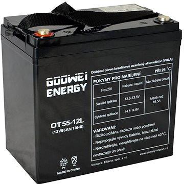 GOOWEI ENERGY OTL55-12, baterie 12V, 55Ah, DEEP CYCLE (OTL55-12)