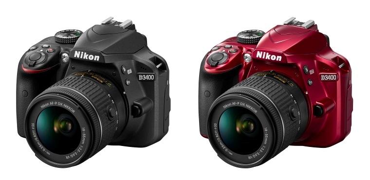 Nikon D3400; Nikon D3400 černý; Nikon D3400 červený