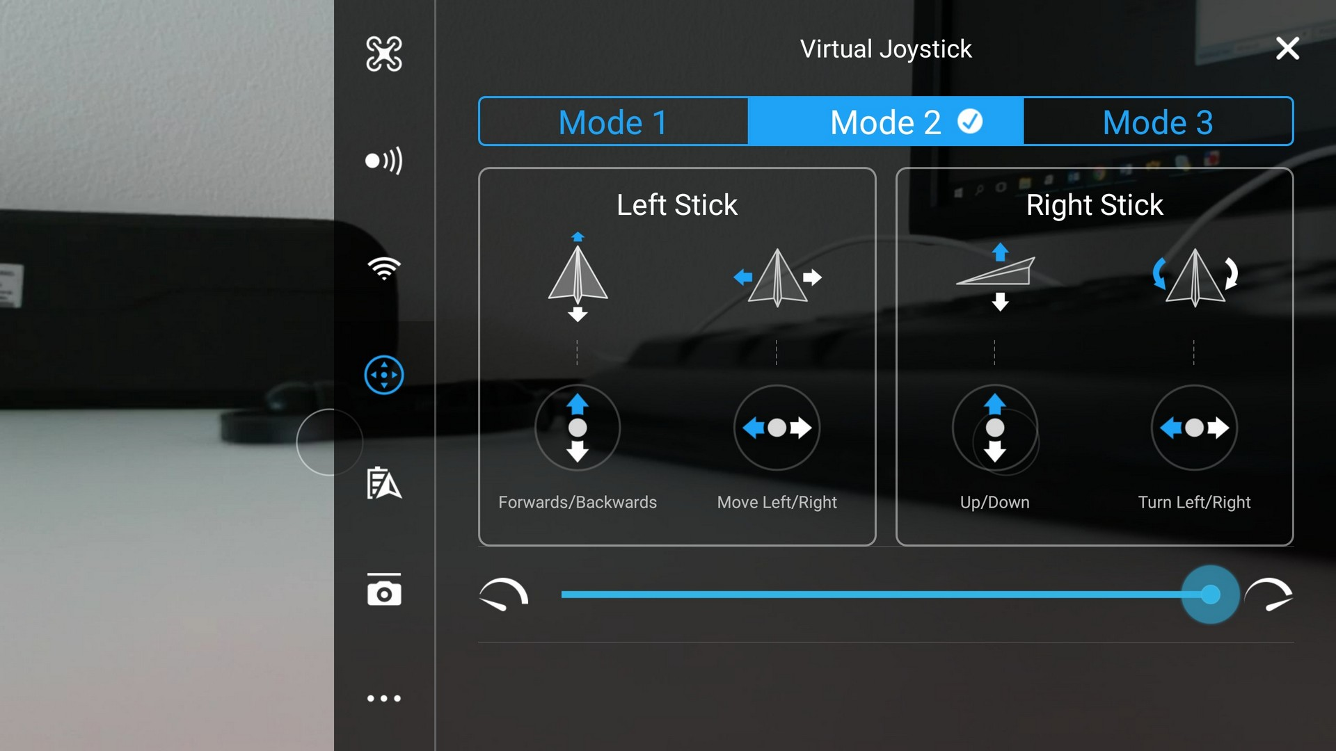 DJI GO 4 aplikace DJI Spark dron