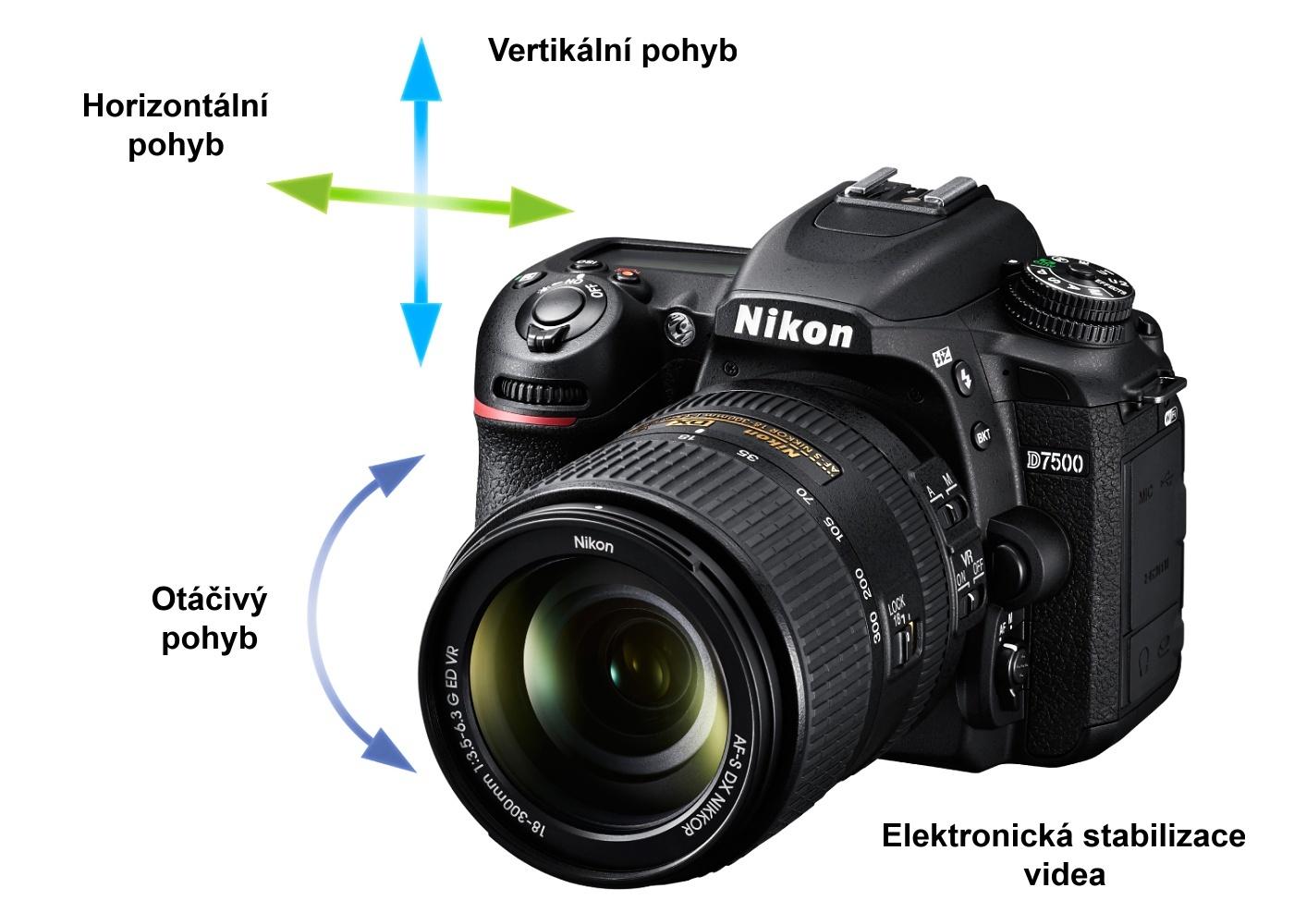 Nikon D750 elektronická stabilizace videa