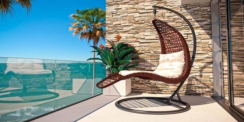 Ratanový nábytek na balkon
