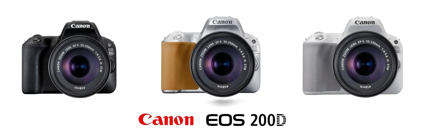 Canon EOS 200D barevné varianty